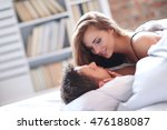 relationship. lovely couple in... | Shutterstock . vector #476188087