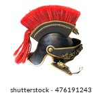 Roman Soldier Helmet On White...