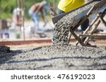 concrete pouring during... | Shutterstock . vector #476192023