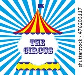 circus card design. vector... | Shutterstock .eps vector #476203117