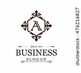 a letter vector logo template ...   Shutterstock .eps vector #476216827