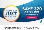 sale discount banner  poster or ... | Shutterstock .eps vector #476225743