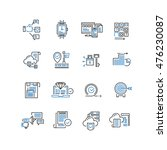 set of thin line business icons | Shutterstock .eps vector #476230087