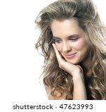 attractive smiling woman...   Shutterstock . vector #47623993
