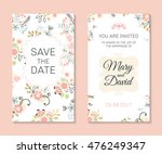 wedding set. romantic vector... | Shutterstock .eps vector #476249347