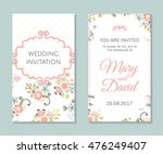 wedding set. romantic vector... | Shutterstock .eps vector #476249407
