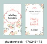 wedding set. romantic vector... | Shutterstock .eps vector #476249473