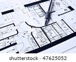house plan | Shutterstock . vector #47625052