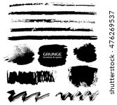 grunge paint rough strokes ... | Shutterstock . vector #476269537