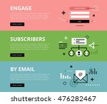 flat line web banners of email... | Shutterstock . vector #476282467