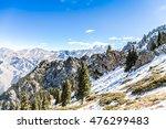mt. tianshan nearby tianchi... | Shutterstock . vector #476299483