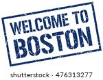 welcome to boston | Shutterstock .eps vector #476313277