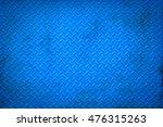 Blue Metal Floor Plate Texture...