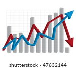 arrows business graph red and... | Shutterstock .eps vector #47632144