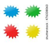 explosion. icon. vector... | Shutterstock .eps vector #476338063