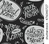 "seamless ""home sweet home""....   Shutterstock . vector #476340727"