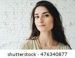 woman portrait natural beautiful | Shutterstock . vector #476340877