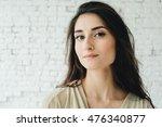 woman portrait natural beautiful | Shutterstock . vector #476340877
