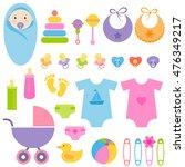 set of baby elements | Shutterstock .eps vector #476349217