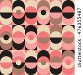 seamless vintage geometric... | Shutterstock .eps vector #476355487