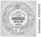 line art vector hand drawn set... | Shutterstock .eps vector #476362933
