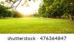 green beautiful park in morning    Shutterstock . vector #476364847