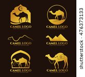 Gold Camel Logo And Sign Vecto...