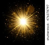 golden glow light effect. star... | Shutterstock .eps vector #476378797