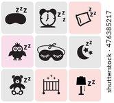 sleep related icons | Shutterstock .eps vector #476385217