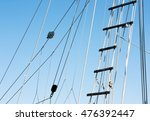 Detail Of A Sailboat Rigging...