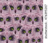 abstract terrible owl heads ... | Shutterstock .eps vector #476395207