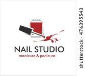 nail studio logo | Shutterstock .eps vector #476395543