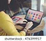 e learning online education... | Shutterstock . vector #476399917