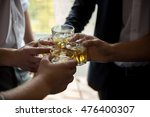 young people drinking whiskey.... | Shutterstock . vector #476400307