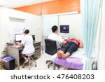 blur   a doctor ultrasound...   Shutterstock . vector #476408203