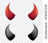 vector red and black devil ... | Shutterstock .eps vector #476427133