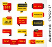 vector stickers  price tag ... | Shutterstock .eps vector #476430487