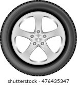 isolated car wheel with...   Shutterstock .eps vector #476435347