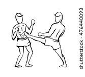 thai boxing | Shutterstock .eps vector #476440093