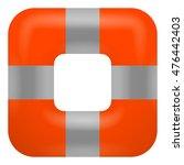 lifebuoy icon button  vector... | Shutterstock .eps vector #476442403