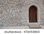 Heavy Closed Door On A Stone...