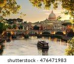 bridge of saint angelo near... | Shutterstock . vector #476471983