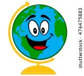 school globe cartoon  | Shutterstock .eps vector #476475883