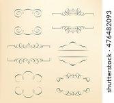 calligraphic design elements   Shutterstock .eps vector #476482093