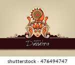 beautiful maa durga face with... | Shutterstock .eps vector #476494747