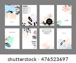 cover template with abstract... | Shutterstock .eps vector #476523697