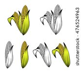 different corn collection over...   Shutterstock .eps vector #476524963