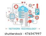 modern graphic flat line design ... | Shutterstock .eps vector #476547997