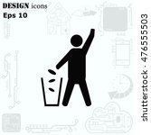 throw away the trash icon ... | Shutterstock .eps vector #476555503
