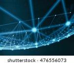 futuristic virtual technology... | Shutterstock . vector #476556073